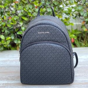 Michael Kors Abbey Large Backpack Mini Logo Black